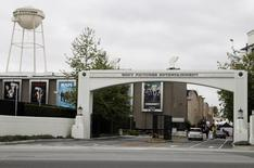 An entrance gate to Sony Pictures Entertainment at the Sony Pictures lot is pictured in Culver City, California April 14, 2013. REUTERS/Fred Prouser