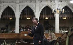 Canada's Minister of Labour and Status of Women Kellie Leitch speaks during Question Period in the House of Commons on Parliament Hill in Ottawa February 27, 2014. REUTERS/Chris Wattie