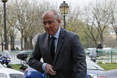 French telecom operator Orange Chief Executive Stephane Richard arrives at the Justice court in Paris March 19, 2014. REUTERS/Gonzalo Fuentes