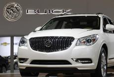 The 2013 Buick Enclave SUV is seen at the Washington Auto show February 6, 2013. REUTERS/Gary Cameron