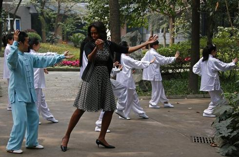 First lady visits China