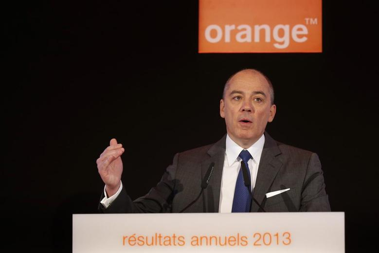 French telecom operator Orange Chief Executive Stephane Richard attends the company's 2013 annual results presentation in Paris March 6, 2014. REUTERS/Jacky Naegelen