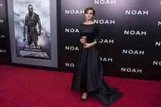 "Cast member Emma Watson attends the U.S. premiere of ""Noah"" in New York March 26, 2014. REUTERS/Andrew Kelly"