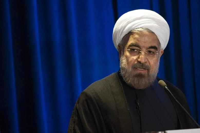 Iran's President Hassan Rouhani speaks during an event hosted by the Council on Foreign Relations and the Asia Society in New York September 26, 2013. REUTERS/Keith Bedford
