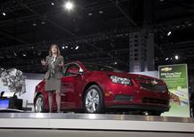 Cristi Landy, Chevrolet marketing director for small cars speaks during the debut of the 2014 Chevy Cruze Clean Turbo Diesel at the Chicago Auto Show, in this file photo from February 7, 2013. REUTERS/John Gress/Files