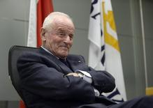 Barrick Gold Corporation Founder and Chairman Peter Munk attends a news conference in Toronto, December 4, 2013. REUTERS/Aaron Harris