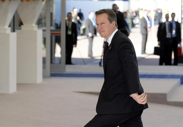 Britain's Prime Minister David Cameron arrives at the Nuclear Security Summit in The Hague March 24, 2014. REUTERS/Marco De Swart/Pool