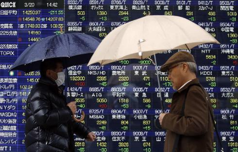 Asian shares quietly encouraged by Wall Street record