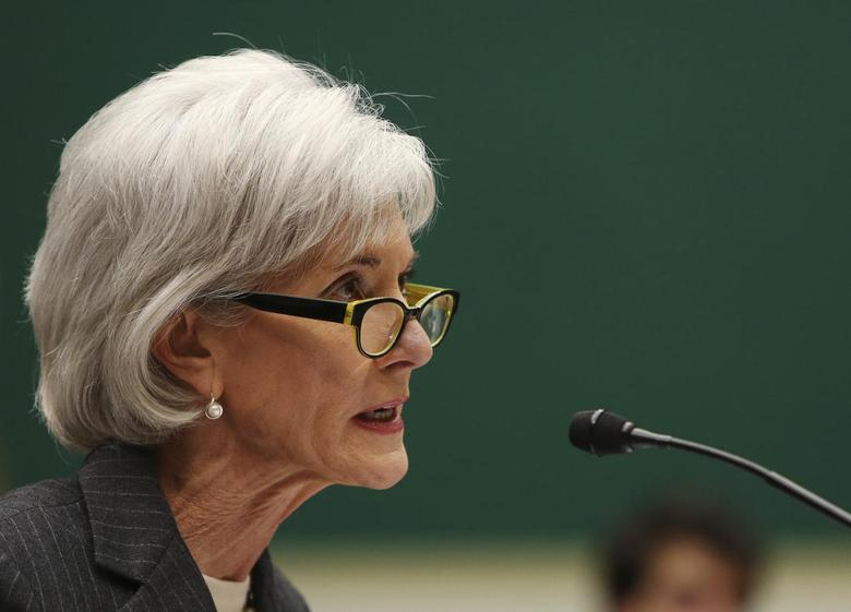 U.S. Health and Human Services Secretary Kathleen Sebelius testifies before the House Energy and Commerce Health Subcommittee on ''Patient Protection and Affordable Care Act Implementation Failures: What's Next?'' on Capitol Hill in Washington December 11, 2013. REUTERS/Gary Cameron