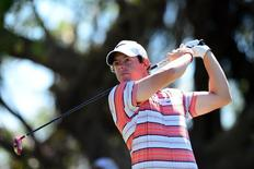 Mar 8, 2014; Miami, FL, USA; ?Rory McIlroy tees off from the 5th hole during the third round of the WGC - Cadillac Championship golf tournament at TPC Blue Monster at Trump National Doral. Andrew Weber-USA TODAY Sports