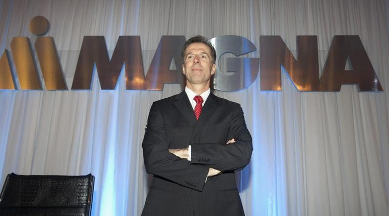 Chief Executive Officer for Magna International Inc. Donald Walker waits for the annual general meeting to start in Toronto May 10, 2012. REUTERS/Fred Thornhill