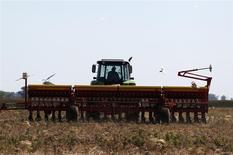 Un trabajador cosecha soja en una plantación en Estación Islas, Argentina, nov 27 2012. América Latina y el Caribe crecerán apenas un 2,3 por ciento este año, pero la desaceleración sería peor si no fuera por la inversión extranjera directa, dijo el miércoles el Banco Mundial. REUTERS/Enrique Marcarian