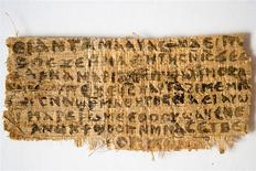 An ancient papyrus written in ancient Egyptian Coptic is pictured in this undated handout image provided by Harvard Divinity School. REUTERS/Karen L King/Harvard Divinity School/Handout via Reuters