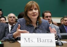 General Motors (GM) Chief Executive Mary Barra testifies before a House Energy and Commerce Committee hearing on GM's recall of defective ignition switches, on Capitol Hill in Washington April 1, 2014. REUTERS/Kevin Lamarque