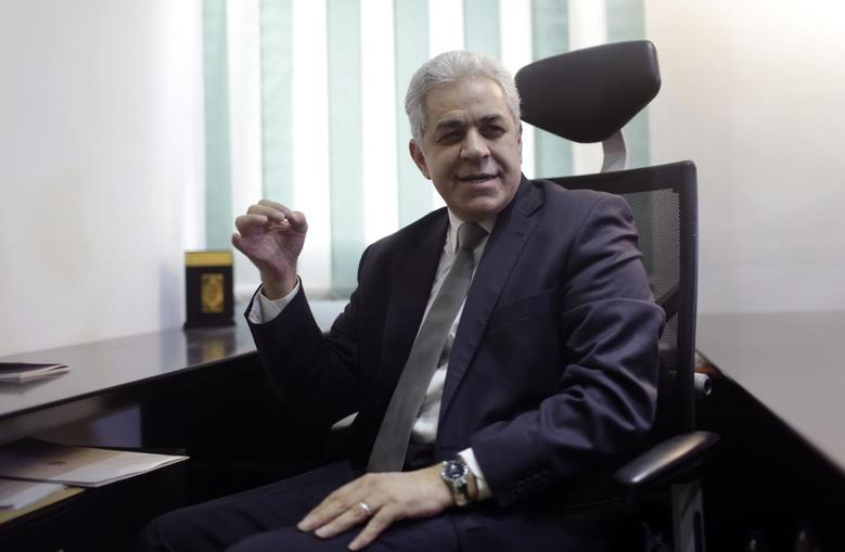 Leftist presidential candidate Hamdeen Sabahi talks during an interview with Reuters in Cairo March 12, 2014. REUTERS/Asmaa Waguih