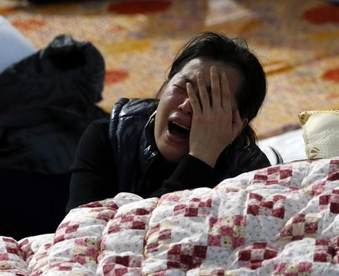 Korean gym is a hothouse of grief for relatives of ferry missing