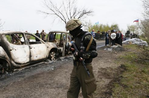Russian state TV says five killed in east Ukraine clash