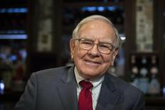 Investor Warren Buffett poses for a portrait during an interview after a luncheon to benefit the Glide Foundation of San Francisco in New York April 23, 2014. REUTERS/Lucas Jackson