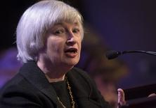 U.S. Federal Reserve chair Janet Yellen speaks to the Economic Club of New York in New York April 16, 2014. REUTERS/Brendan McDermid