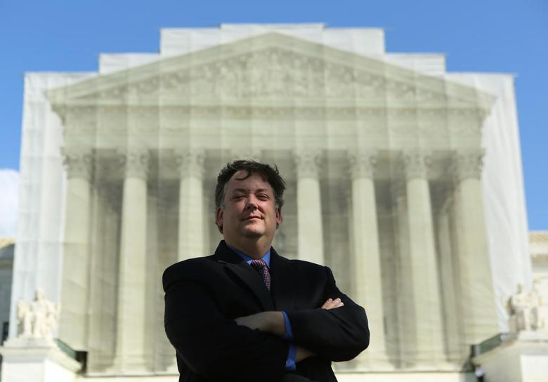 Shaun McCutcheon is shown in front of the United States Supreme Court in Washington, D.C. on September 13, 2013. REUTERS/Gary Cameron