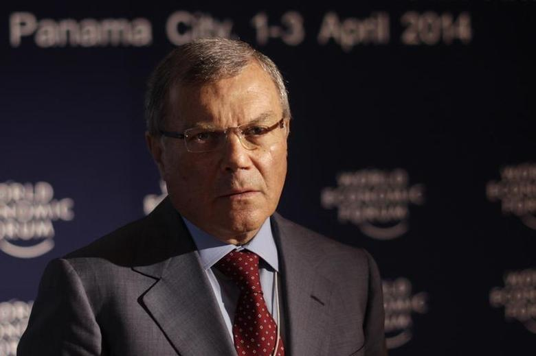 WPP Chief Executive Martin Sorrell poses for a photo during an interview with Thomson Reuters at the World Economic Forum on Latin America in Panama City April 3, 2014. REUTERS/Carlos Jasso