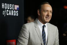 "Cast member Kevin Spacey poses at the premiere for the second season of the television series ""House of Cards"" at the Directors Guild of America in Los Angeles, California February 13, 2014. REUTERS/Mario Anzuoni"