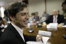 O ministro da Economia argentino, Axel Kicillof, participa de uma reunião com o ministro da Fazenda, Guido Mantega, em Brasília, nesta terça-feira. 29/04/2014 REUTERS/Ueslei Marcelino