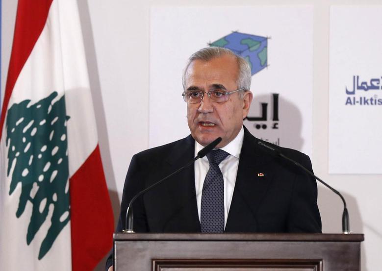 Lebanon's President Michel Suleiman speaks during the third Lebanon Economic Forum in Beirut March 8, 2014. REUTERS/Mohamed Azakir