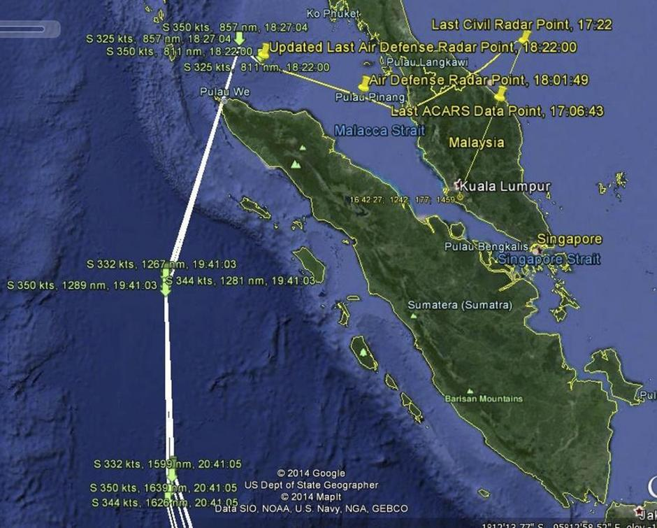 Red Herring In Hunt For Mh370 Highlights Air Traffic Flaws Reuters - Us-air-traffic-map
