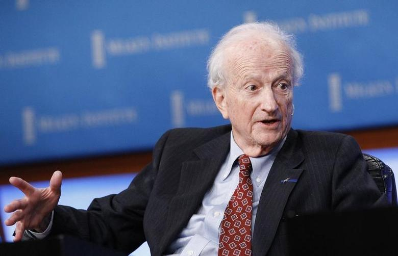 Nobel Laureate Gary Becker, Professor of Economics and Sociology, University of Chicago, speaks at the panel ''Marketplace of Ideas'' during The Milken Institute Global Conference in Beverly Hills, California May 4, 2011. REUTERS/Mario Anzuoni