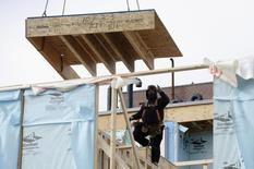 Homes undergo construction in Toronto, February 25, 2014. REUTERS/Aaron Harris