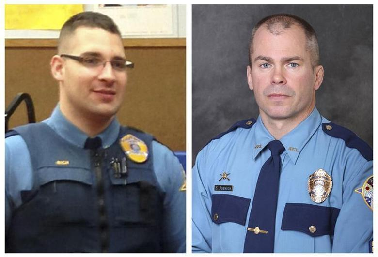 Alaska State Troopers Sergeant Patrick ''Scott'' Johnson (R) and Gabriel ''Gabe'' Rich are seen in this combination picture made of undated handout photos released by the Alaska Department of Public Safety. REUTERS/Alaska Department of Public Safety/Handout via Reuters