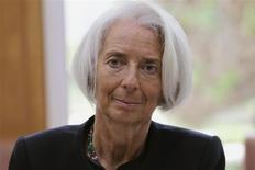 La directora gerente del Fondo Monetario Internacional (FMI), Christine Lagarde, durante una reunión en el Ministerio de Finanzas, en Rabat, Marruecos. 8 de mayo, 2014. REUTERS/Stringer