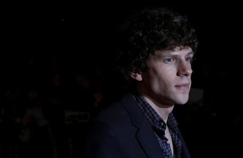 Cast member Jesse Eisenberg arrives for the European premiere of ''The Double'' at the London Film Festival, at the Odeon West End, in central London October 12, 2013.   REUTERS/Suzanne Plunkett/Files