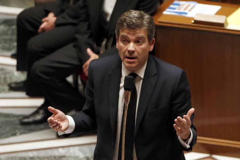 French Economy minister Arnaud Montebourg speaks during the questions to the government session at the National Assembly in Paris April 29, 2014. REUTERS/Charles Platiau