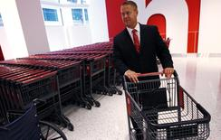 Target's Senior Vice President Mark Schindele tours a new CityTarget store as they prepare for its opening in downtown Chicago July 18, 2012. REUTERS/Jim Young