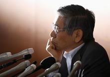 Bank of Japan (BOJ) Governor Haruhiko Kuroda attends a news conference at the BOJ headquarters in Tokyo May 21, 2014. REUTERS/Toru Hanai