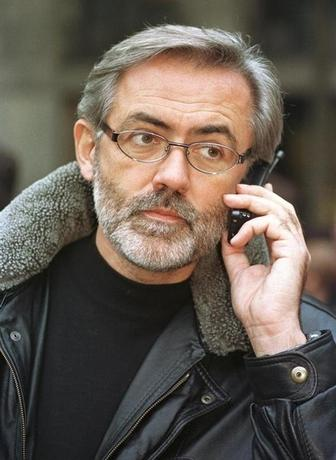 FILE PHOTO 9NOV98 - A prominent Serb opposition journalist Slavko Curuvija, owner of the daily Dnevni Telegraf, is shown in this file picture taken November 9, 1998 in Belgrade.
