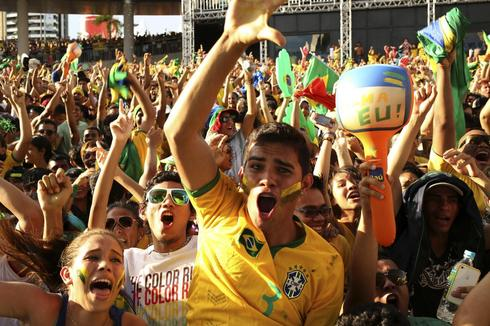 Brazil in World Cup swing as goals fly in, protests ease