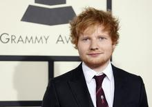 Singer Ed Sheeran arrives at the 56th annual Grammy Awards in Los Angeles, California in this January 26, 2014, file photo. REUTERS/Danny Moloshok/Files