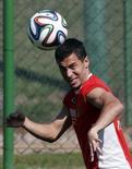 Jogador da Bélgica Eden Hazard durante treino em Mogi das Cruzes. 27/6/ 2014.    REUTERS/Paulo Whitaker