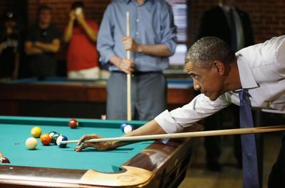 Obama at the bar