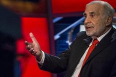Billionaire activist investor Carl Icahn gives an interview on FOX Business Network's Neil Cavuto show in New York February 11, 2014. REUTERS/Brendan McDermid