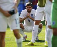 Steven Gerrard após partida contra a Costa Rica em Belo Horizonte. 24/06/2014. REUTERS/Damir Sagolj