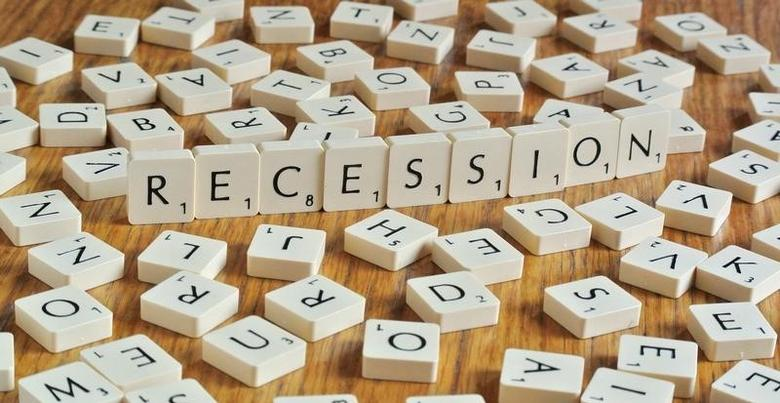The word recession, made from letters of a scrabble game, is seen in this illustration picture taken in Ljubljana  November 15, 2012.    REUTERS/Srdjan Zivulovic