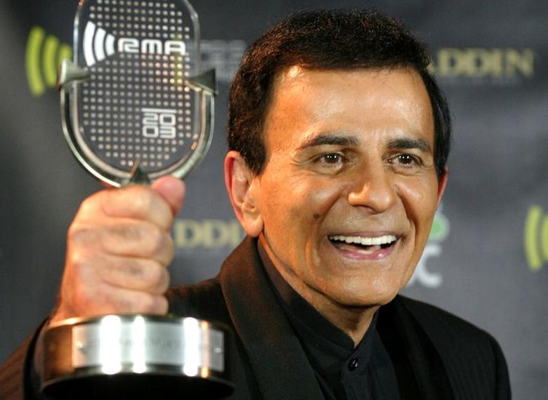 Casey Kasem poses with his Radio Icon Award at the 2003 Radio MusicAwards in Las Vegas, Nevada in this file photo taken October 27, 2003.  REUTERS/Steve Marcus/Files