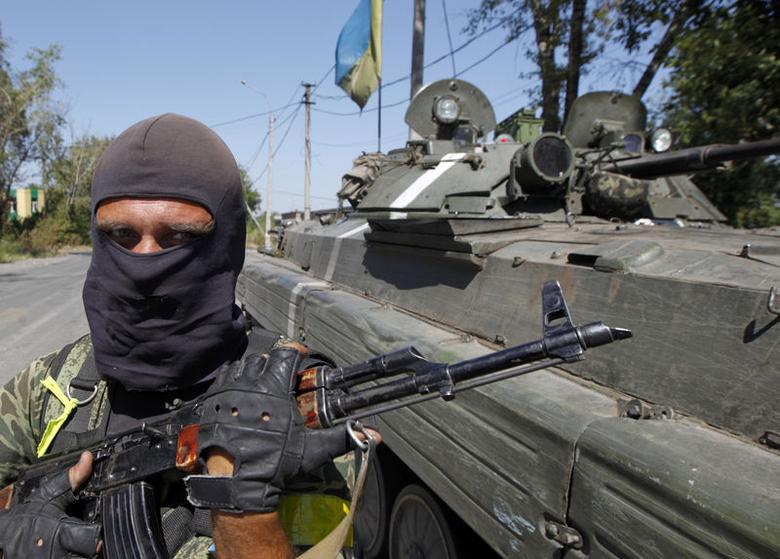 Kiev says forces destroyed Russian armour inside...