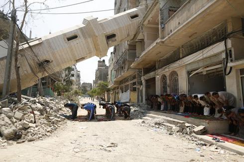 Prayers in Gaza