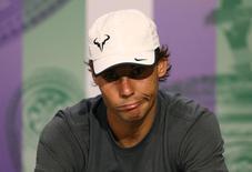 Rafael Nadal, da Espanha, após derrota em Wimbledon. 01/07/2014      REUTERS/Scott Heavey/AELTC/Pool