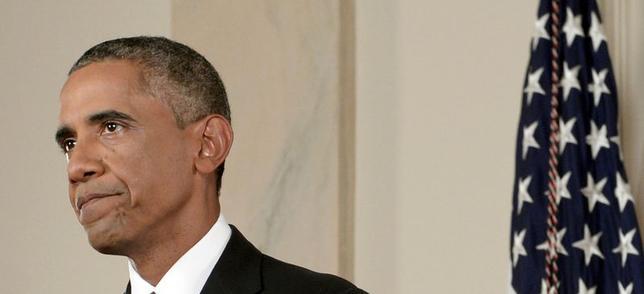 9月10日、オバマ米大統領が演説を通じ、シリア領内の「イスラム国」に対する攻撃を表明することで、米国民は紛争に巻き込まれることを覚悟するだろう。しかし、出口戦略を一体どうするかの方が実際には問題だ。 ワシントンで代表撮影(2014年 ロイター)